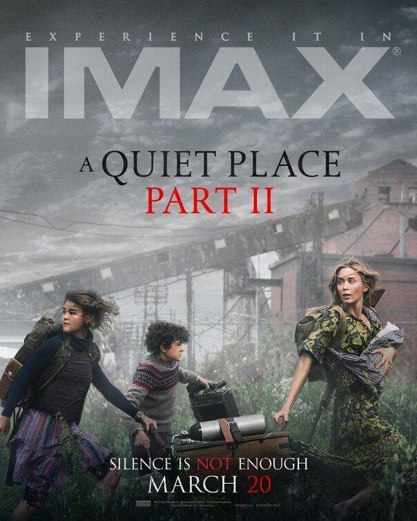 Cartel IMAX de 'Un lugar tranquilo 2'