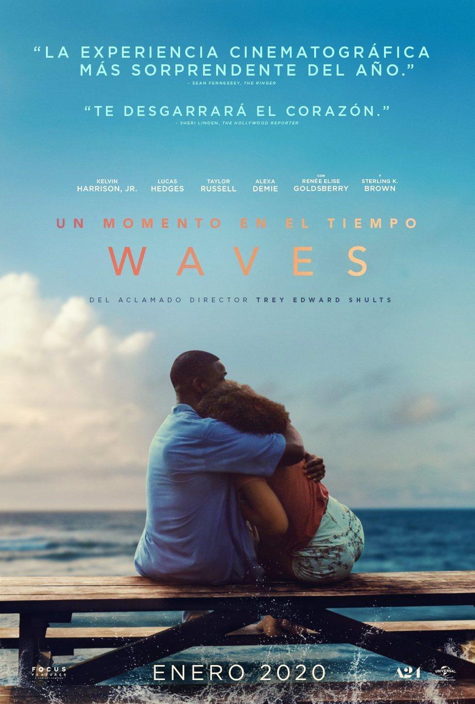 Cartel España de 'Un momento en el tiempo - Waves'