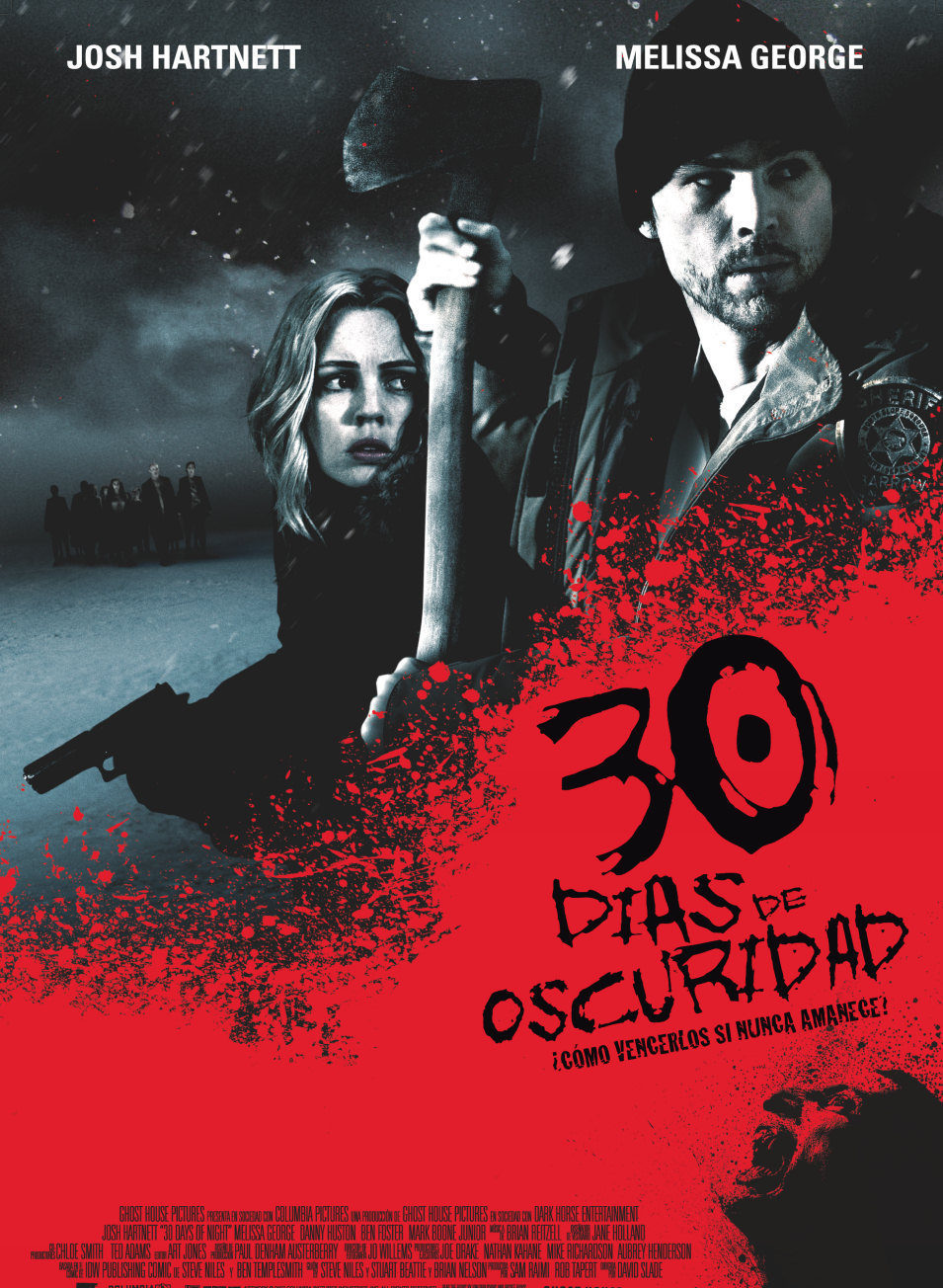 Cartel España de '30 días de oscuridad'