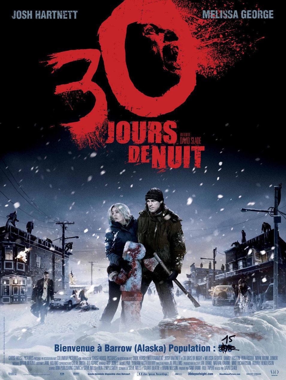 Cartel Francia de '30 días de oscuridad'