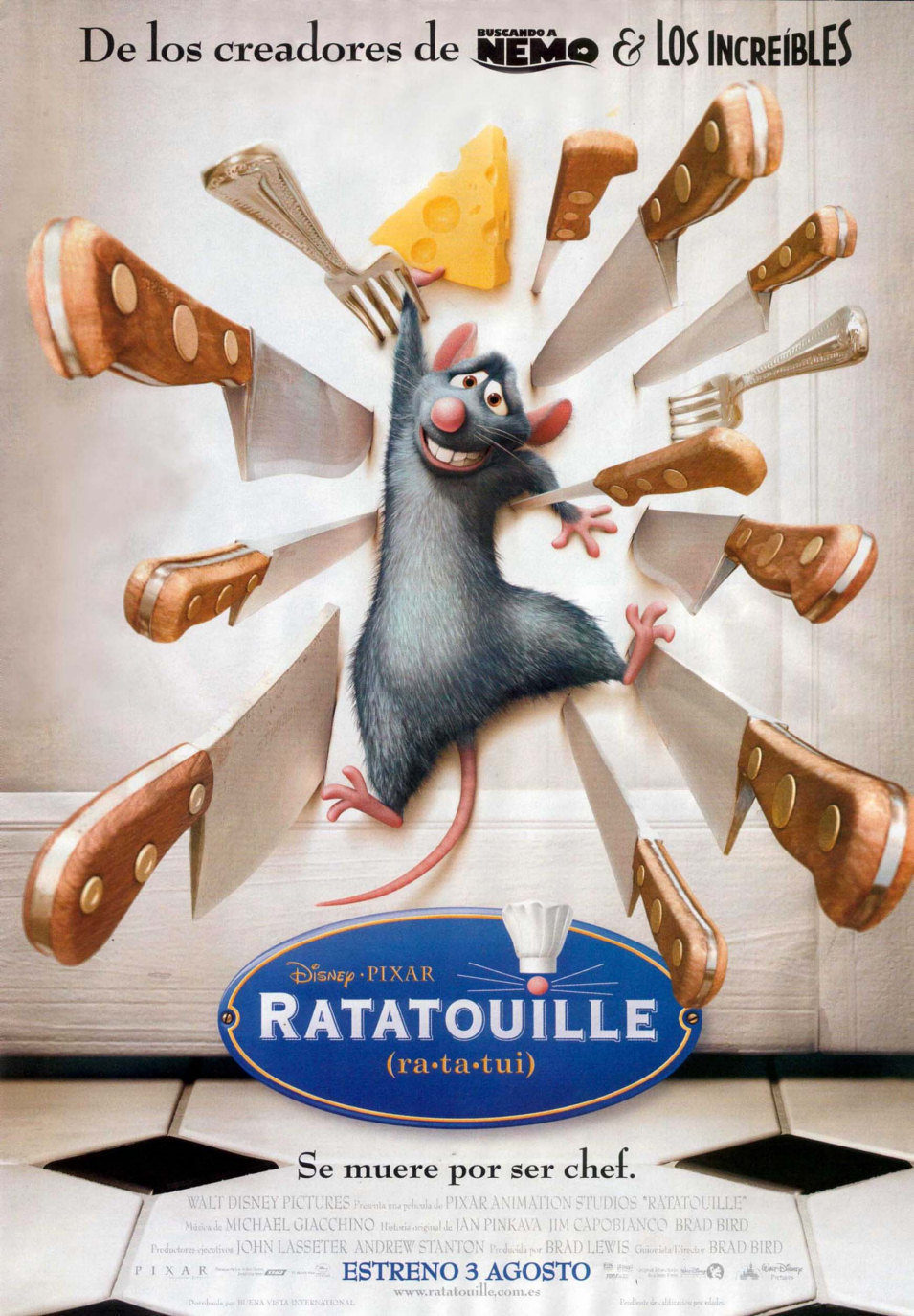 Cartel España de 'Ratatouille'