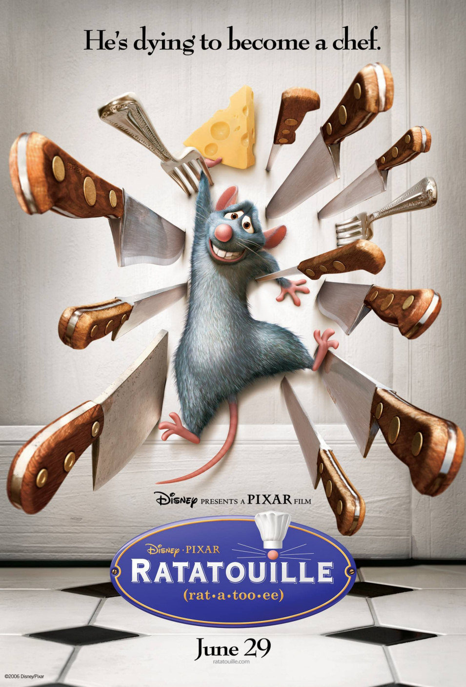 Cartel Estados Unidos de 'Ratatouille'