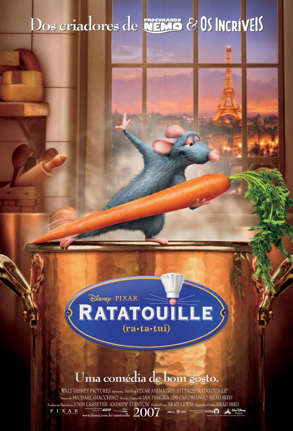 Cartel Portugal de 'Ratatouille'