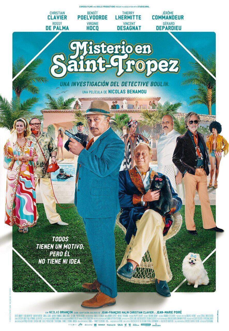 Cartel España de 'Misterio en Saint-Tropez'