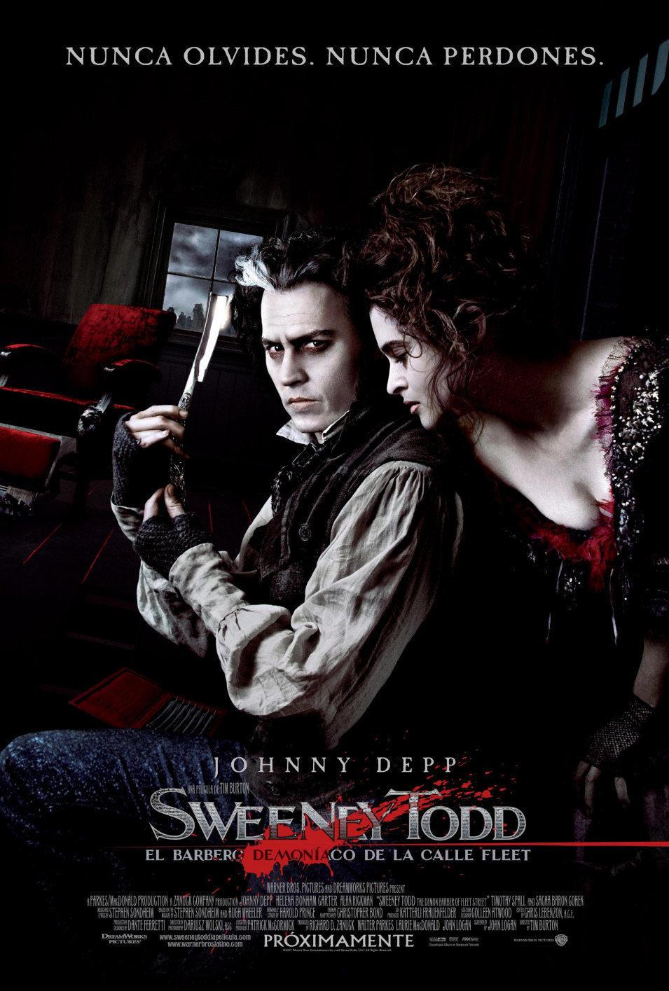 Cartel España de 'Sweeney Todd, el barbero diabólico de la calle Fleet'