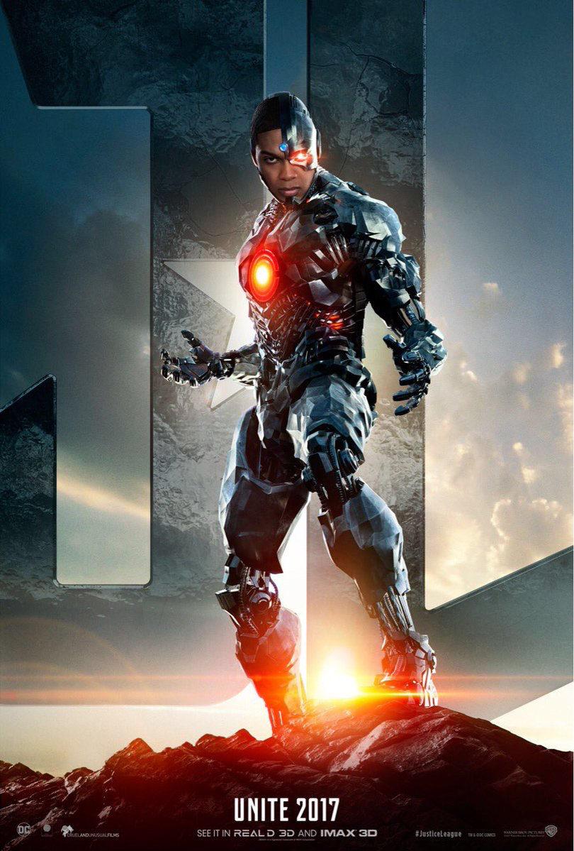 Cartel Cyborg de 'Liga de la Justicia'