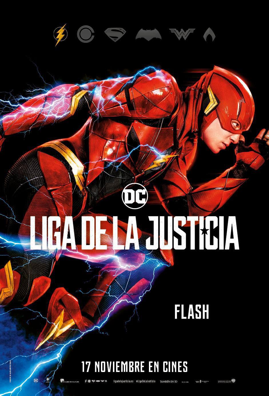 Cartel Flash de 'Liga de la Justicia'