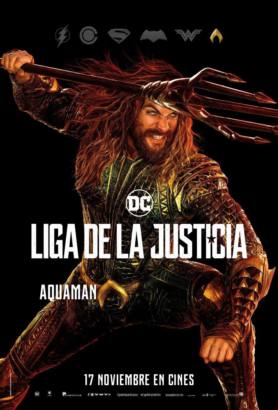 Cartel Aquaman de 'Liga de la Justicia'