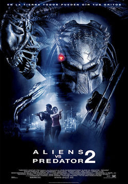 Cartel de Aliens vs. Predator 2