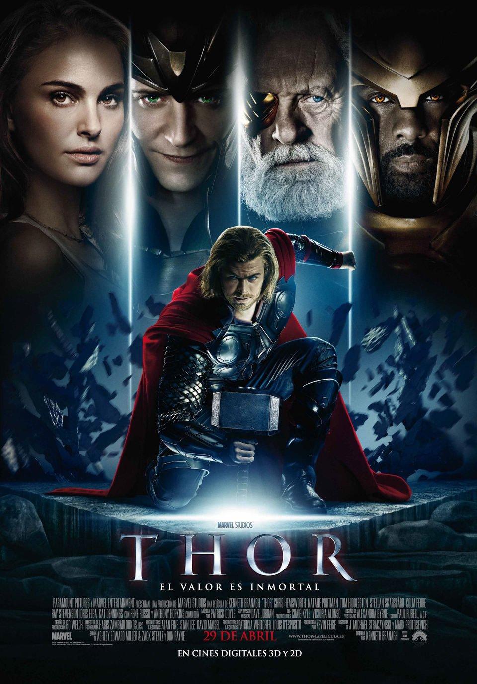 Cartel Definitivo España de 'Thor'
