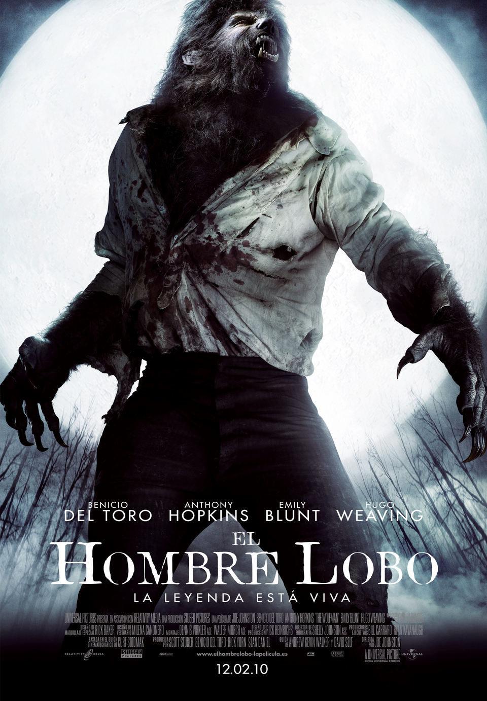 Cartel España de 'El hombre lobo'