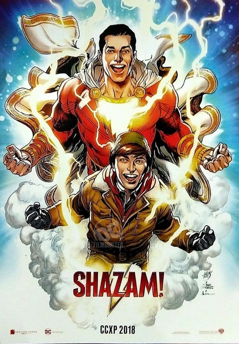 Cartel Póster exclusivo Comic Con XP de '¡Shazam!'