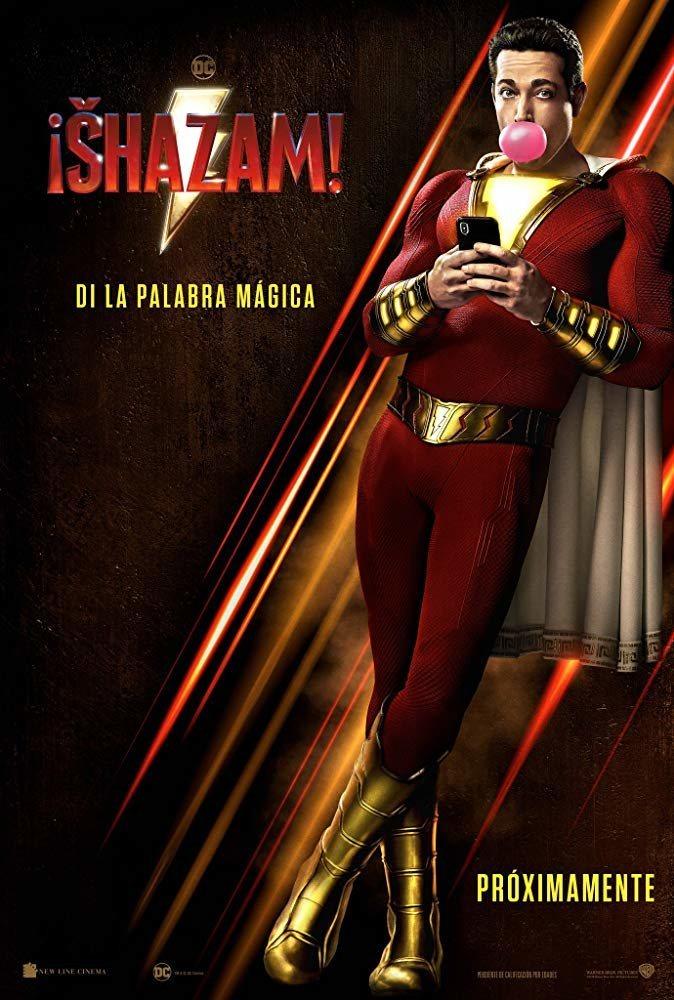 Cartel Póster español de '¡Shazam!'