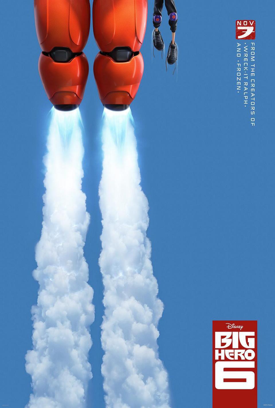 Cartel Teaser EEUU de 'Big Hero 6'