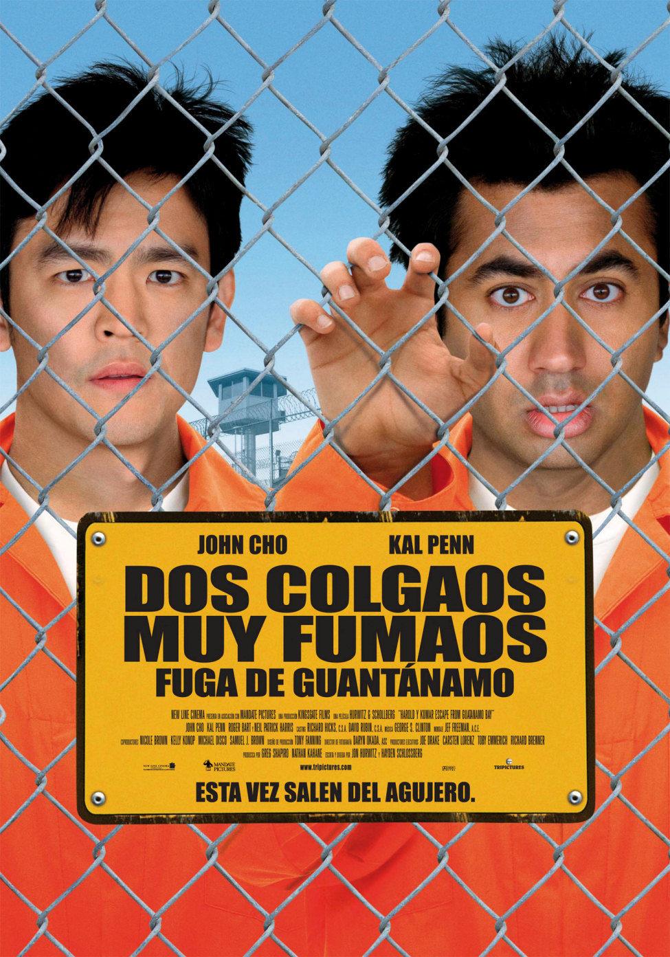Cartel España de 'Dos colgaos muy fumaos: Fuga de Guantánamo'