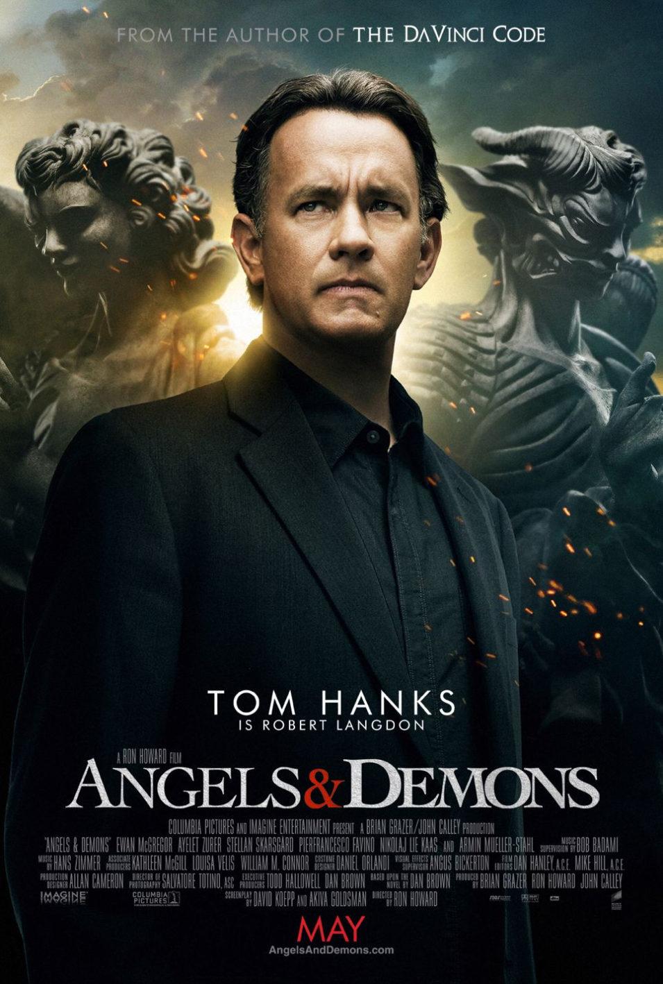 Cartel  de 'Ángeles y demonios'