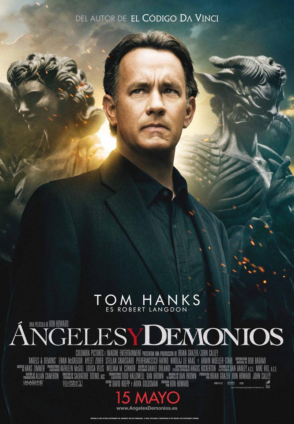 Cartel España de 'Ángeles y demonios'