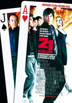 Cartel de 21: Blackjack