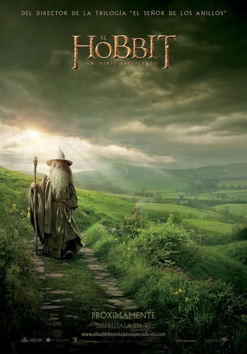 Cartel Póster en español de 'El Hobbit: Un viaje inesperado'