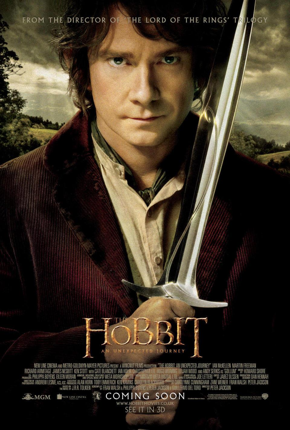 Cartel EEUU de 'El Hobbit: Un viaje inesperado'