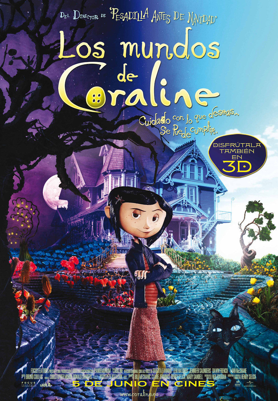 Cartel España de 'Los mundos de Coraline'