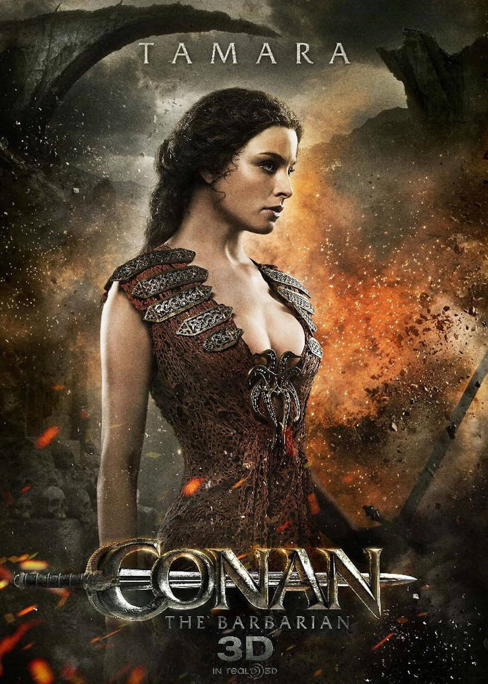 Cartel Rachel Nichols de 'Conan el Bárbaro'