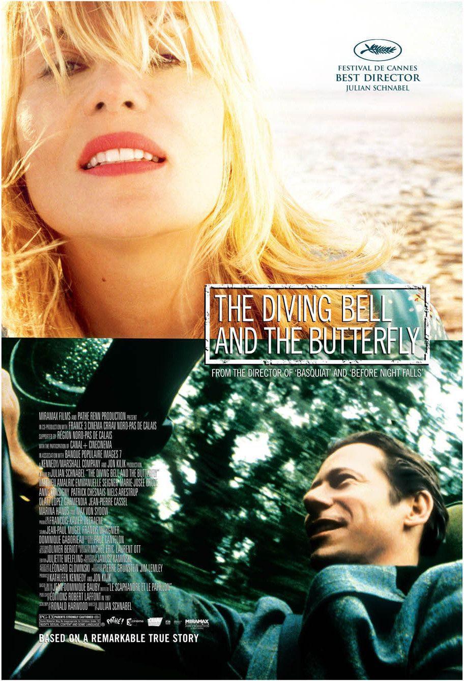 Cartel EEUU de 'La escafandra y la mariposa'