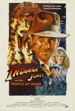 Cartel de Indiana Jones y el Templo Maldito