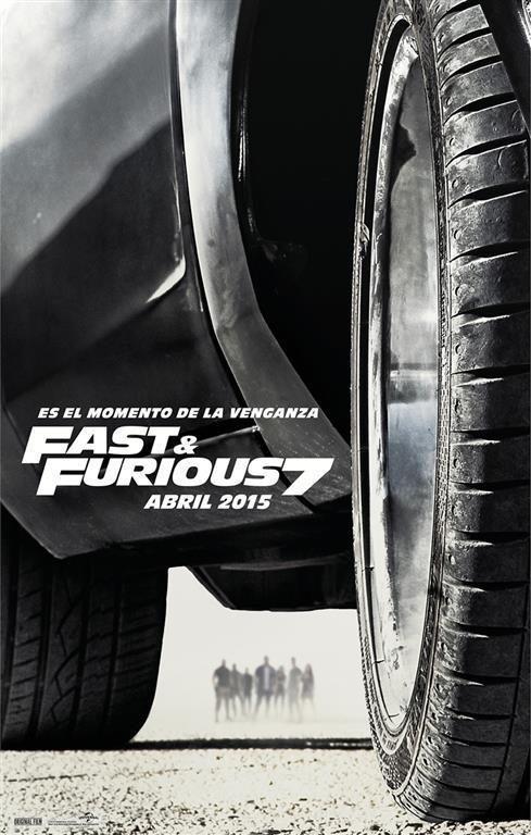 Cartel Teaser España de 'Fast & Furious 7'