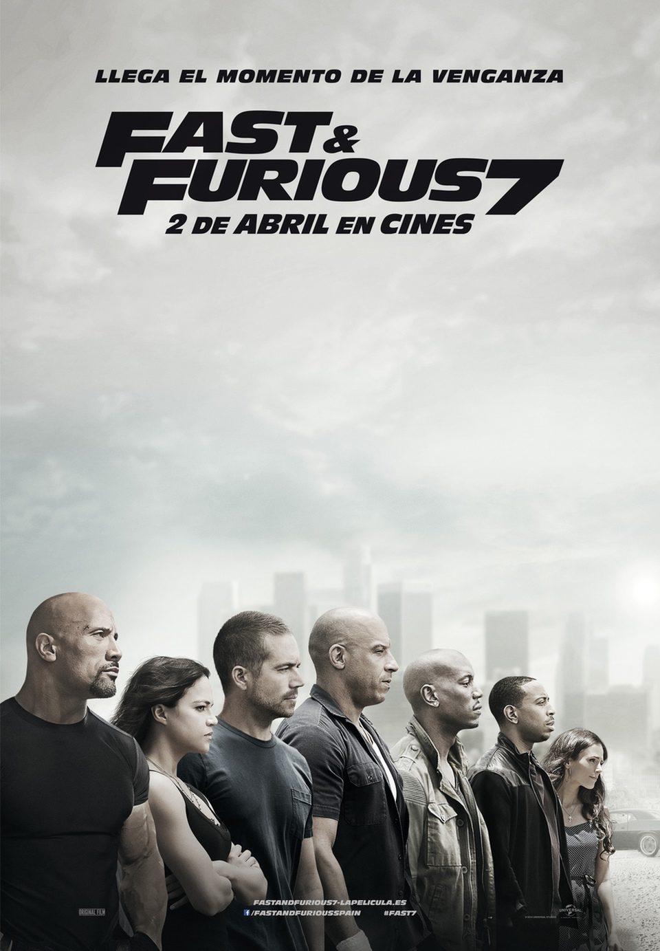 Cartel España de 'Fast & Furious 7'