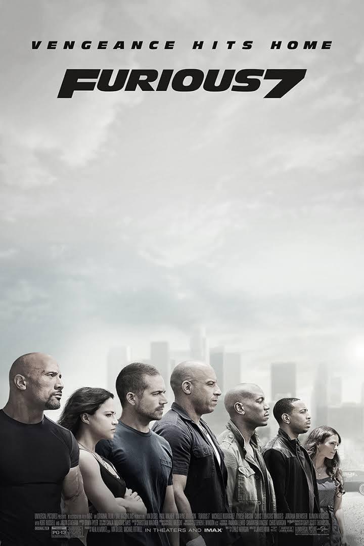 Cartel Reino Unido de 'Fast & Furious 7'