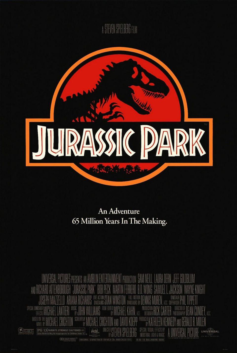 Cartel EEUU de 'Parque Jurásico'
