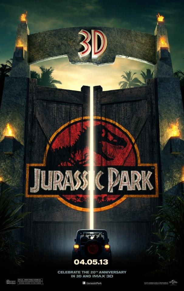 Cartel EEUU 3D de 'Parque Jurásico'