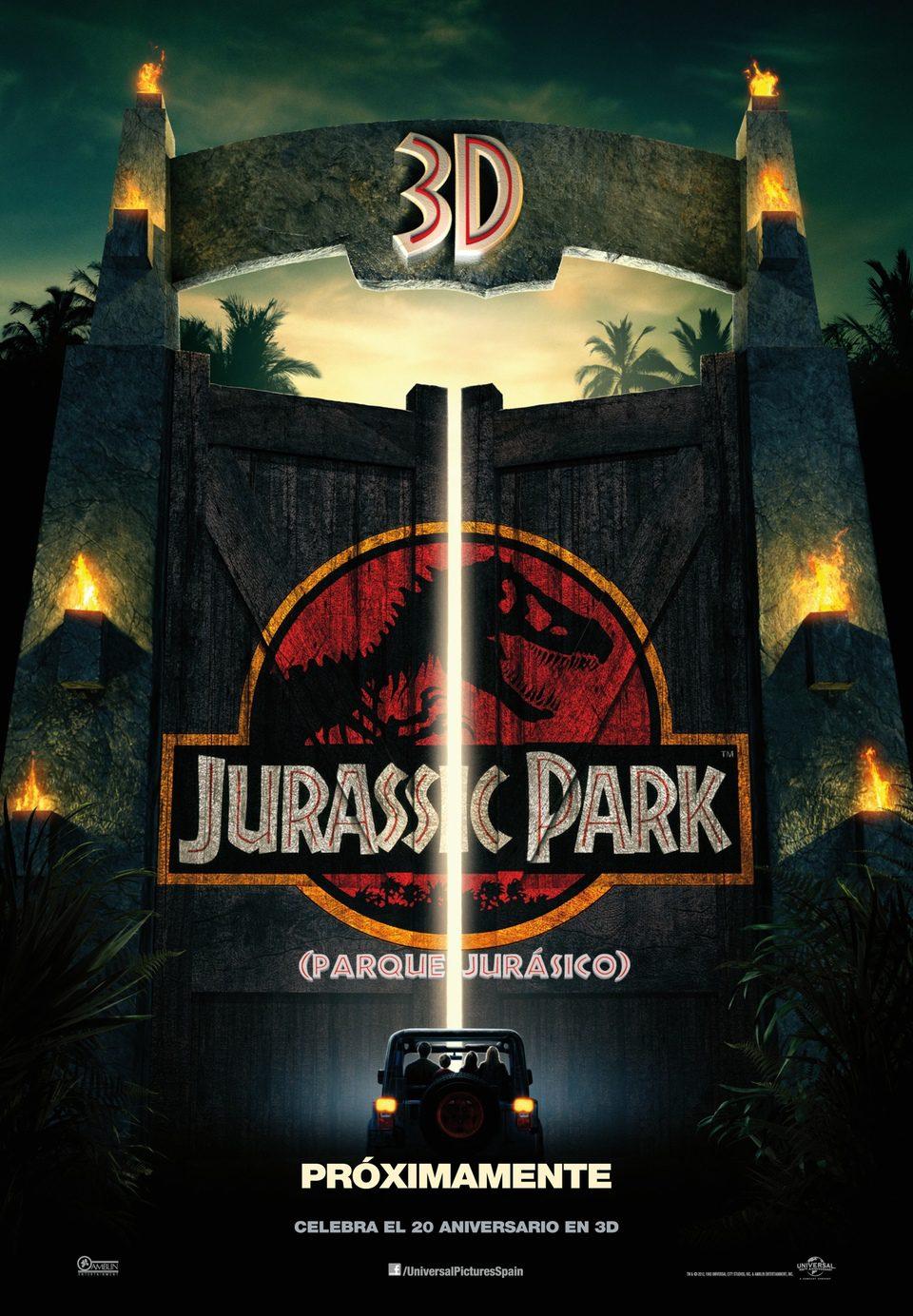 Cartel España 3D de 'Parque Jurásico'