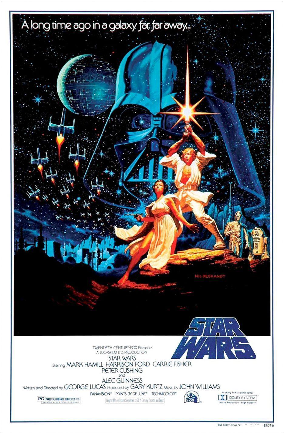 Cartel EEUU de 'Star Wars: Episodio IV - Una nueva esperanza'