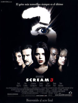 Cartel de Scream 3