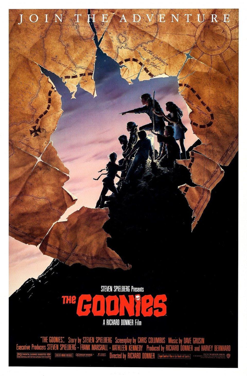 Cartel Estados Unidos de 'Los Goonies'