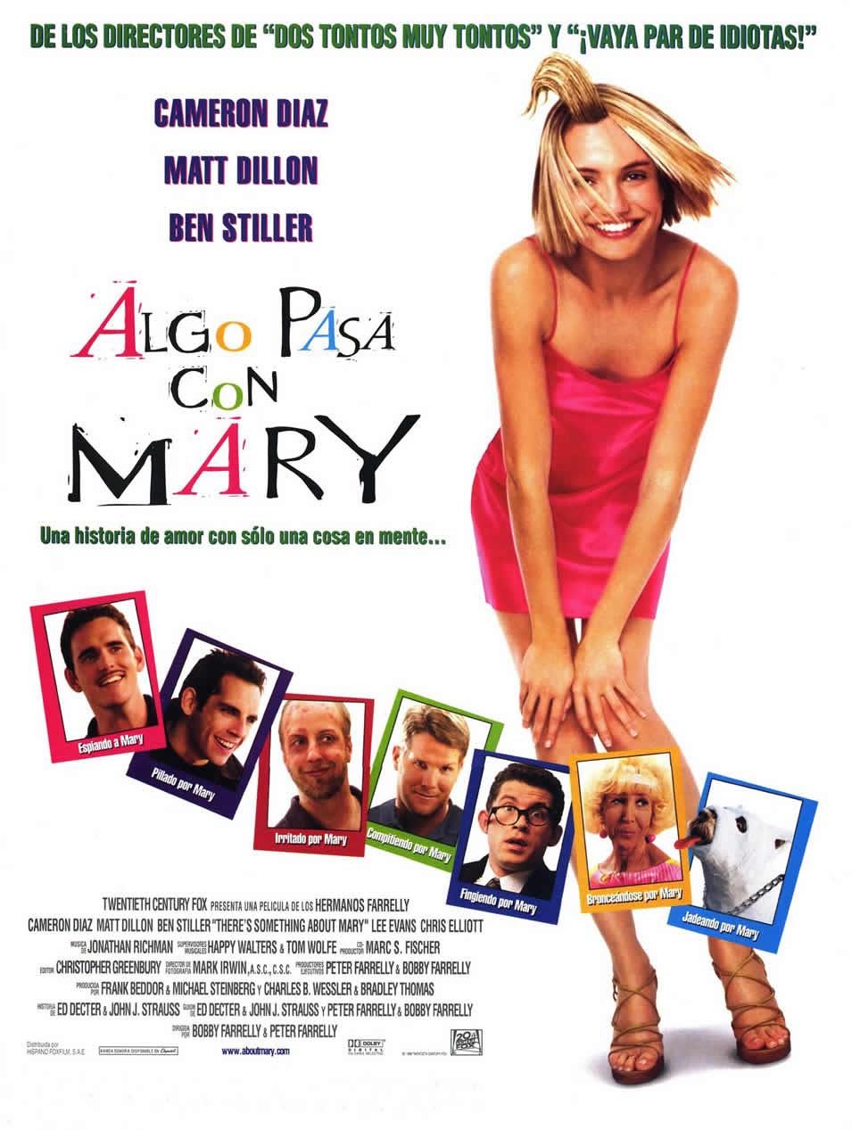 Cartel España de 'Algo pasa con Mary'