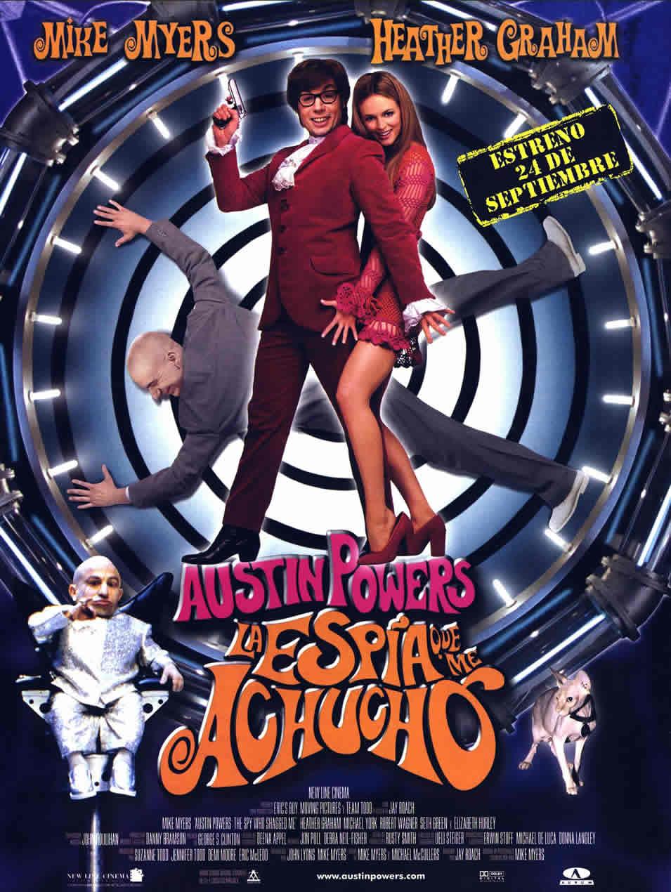 Cartel España de 'Austin Powers: La espía que me achuchó'