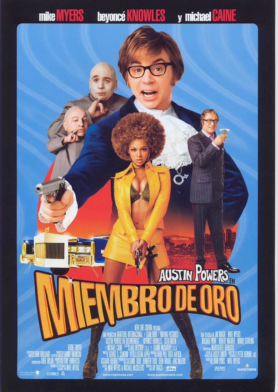 Cartel España de 'Austin Powers en Miembro de Oro'