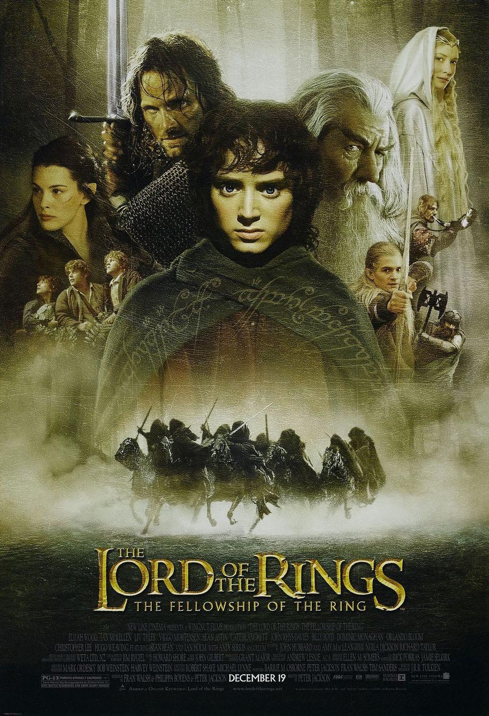 Cartel EEUU de 'El Señor de los anillos: La comunidad del anillo'
