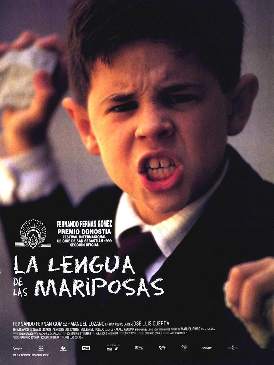 Cartel España de 'La lengua de las mariposas'