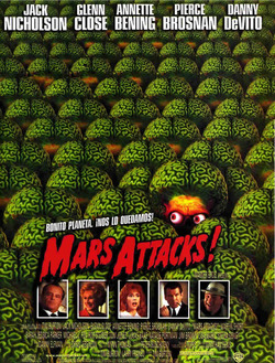 Cartel de Mars Attacks!