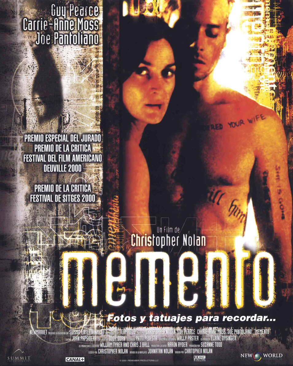 Cartel España de 'Memento'