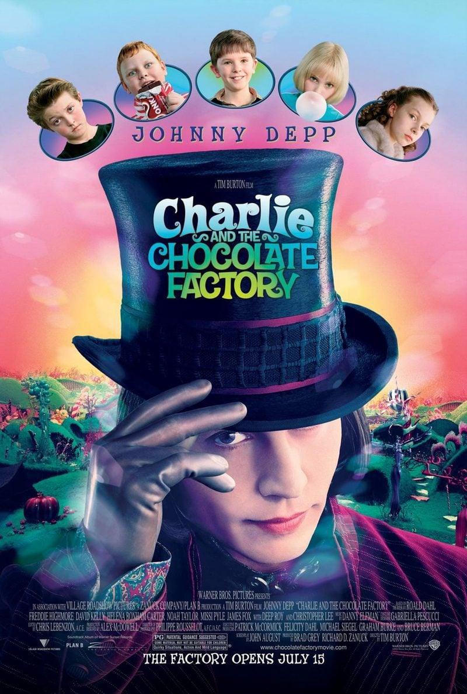Cartel Estados Unidos de 'Charlie y la fábrica de chocolate'