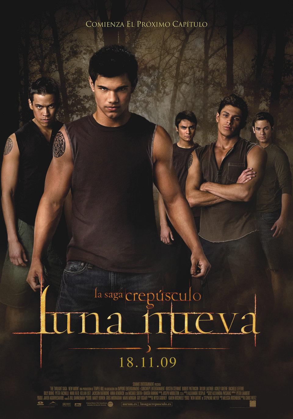 Cartel España - Lobos de 'Luna nueva'