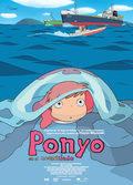Cartel Ponyo en el acantilado