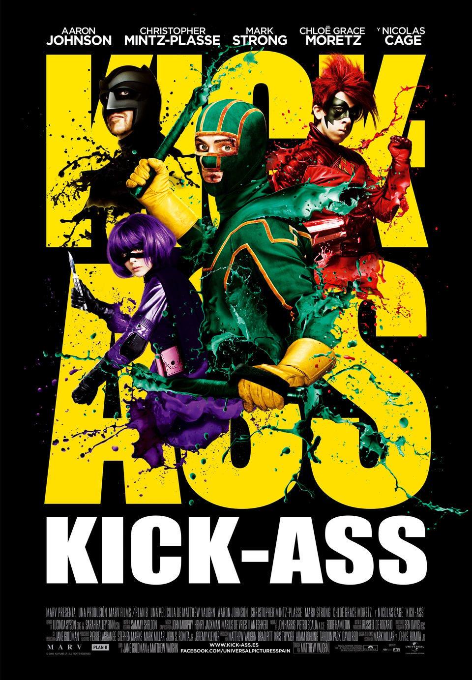 Cartel España de 'Kick-Ass. Listo para machacar'