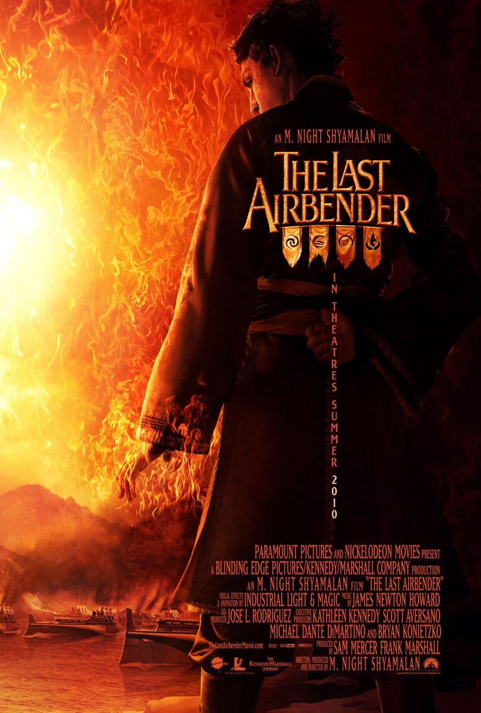 Cartel Estados Unidos de 'Airbender, el último guerrero'