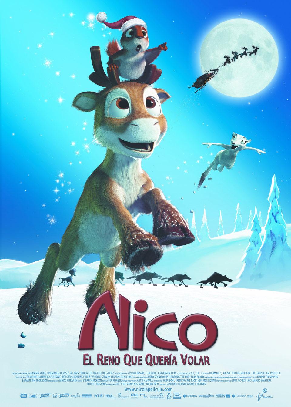 Cartel España de 'Nico, el reno que quería volar'